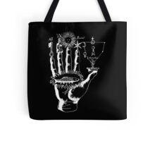 Renaissance Alchemy Hand with Symbols Tote Bag