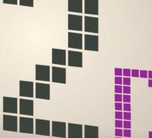 Glitch Music Blocks musicblock d green 02 Sticker