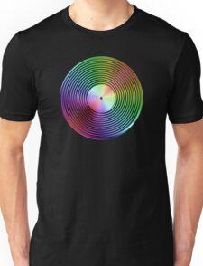 Vinyl LP Record - Metallic - Rainbow Unisex T-Shirt
