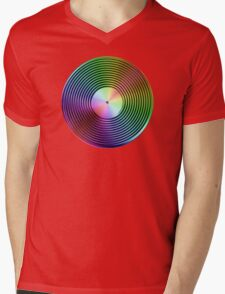 Vinyl LP Record - Metallic - Rainbow Mens V-Neck T-Shirt