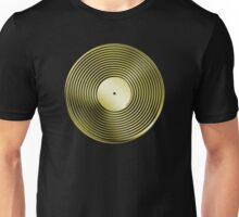 Vinyl LP Record - Metallic - Gold Unisex T-Shirt