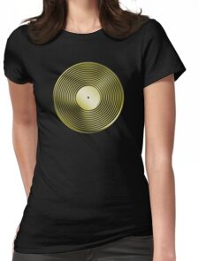 Vinyl LP Record - Metallic - Gold Womens Fitted T-Shirt