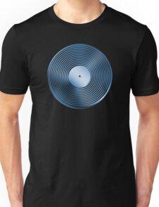Vinyl LP Record - Metallic - Blue Unisex T-Shirt