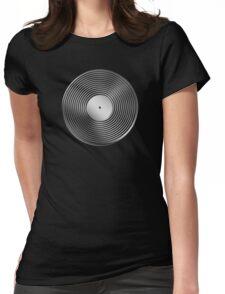 Vinyl LP Record - Metallic - Steel Womens Fitted T-Shirt