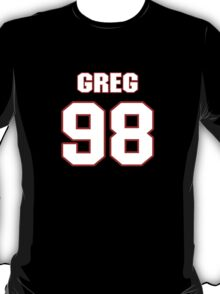 NFL Player Greg Scruggs ninetyeight 98 T-Shirt
