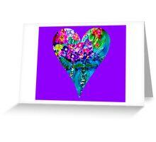 Floral Heart Designer Art Gifts Greeting Card