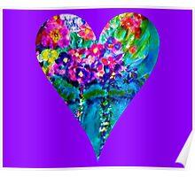 Floral Heart Designer Art Gifts Poster