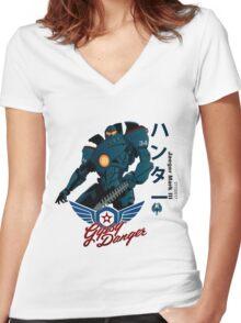 Gipsy Danger Women's Fitted V-Neck T-Shirt