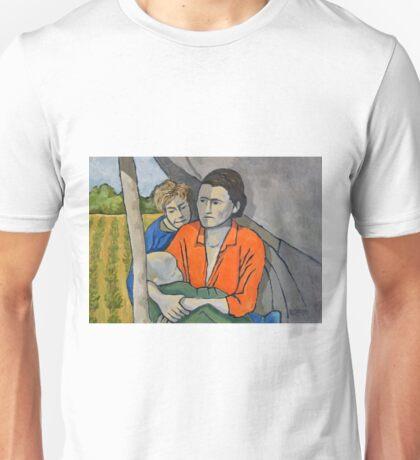 Migrant Family Under Tarp Unisex T-Shirt