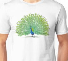 Colorful Peacock Painting Art Unisex T-Shirt