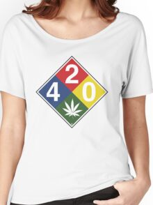 420 Caution Sign Fun Women's Relaxed Fit T-Shirt
