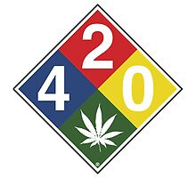 420 Caution Sign Fun by LGdesigns