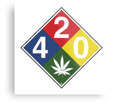 420 Caution Sign Fun Metal Print