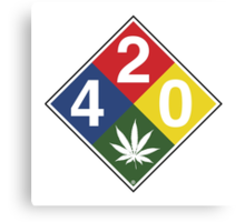 420 Caution Sign Fun Canvas Print