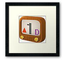 Glitch Music Blocks musicblock d red 01 Framed Print