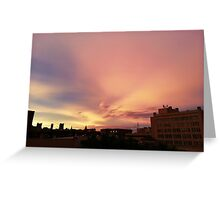 Midwest city skyline Greeting Card