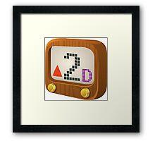 Glitch Music Blocks musicblock d red 02 Framed Print