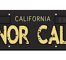 Nor Cal Old License by LGdesigns