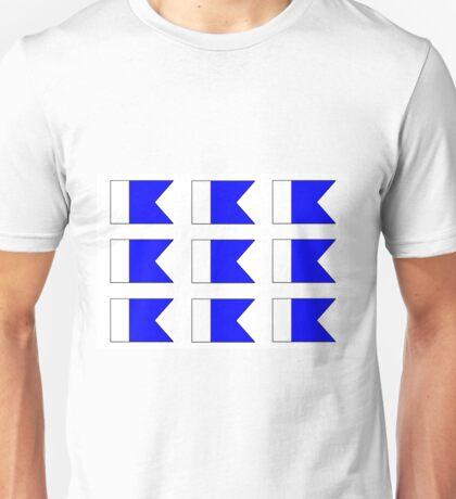 Multiple Letter A Nautical / Diver Down Scuba Flag Unisex T-Shirt