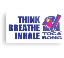 Toca Bong Quote Think Breath Inhale Metal Print