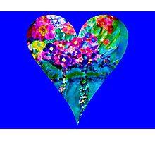 Blue Floral Heart Designer Art Gifts Photographic Print