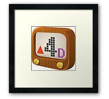 Glitch Music Blocks musicblock d red 04 Framed Print