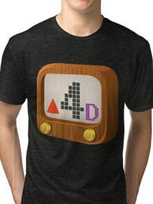 Glitch Music Blocks musicblock d red 04 Tri-blend T-Shirt