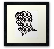 Sherlock - 221b Wallpaper Framed Print