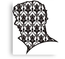 Sherlock - 221b Wallpaper Canvas Print