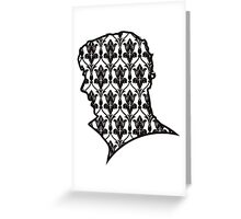 Sherlock - 221b Wallpaper Greeting Card