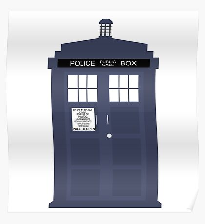 Blue Tardis Doctor Who | Cult tv Poster