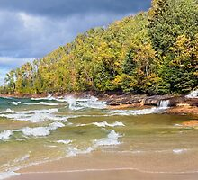 Autumn at Miners Beach, Pictured Rocks National Lakeshore by Kenneth Keifer