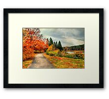 Fall Along Lake Nevin Framed Print