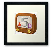 Glitch Music Blocks musicblock d red 05 Framed Print