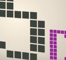 Glitch Music Blocks musicblock d red 05 Sticker
