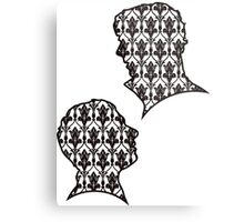Sherlock Portraits - Wallpaper design Metal Print