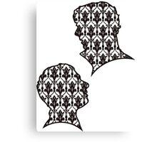 Sherlock Portraits - Wallpaper design Canvas Print