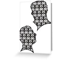 Sherlock Portraits - Wallpaper design Greeting Card