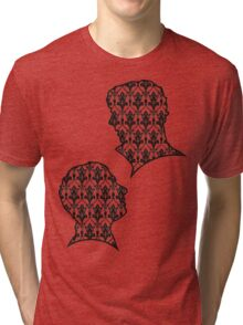 Sherlock Portraits - Wallpaper design Tri-blend T-Shirt