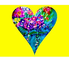 Yellow Floral Heart Designer Art Gifts Photographic Print