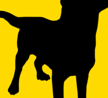 Labrador Retriever Crossing Sticker
