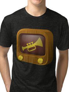 Glitch Music Blocks musicblock trumpets Tri-blend T-Shirt