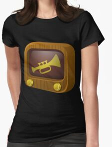 Glitch Music Blocks musicblock trumpets Womens Fitted T-Shirt