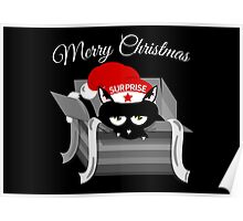 Naughty Cat Merry Christmas Poster