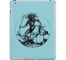 Medieval Wild Man or Green Man iPad Case/Skin