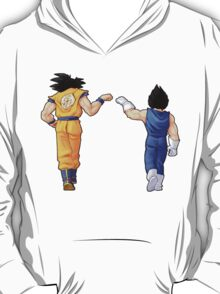 """Bros"" Goku and Vegeta Fist Bump T-Shirt"