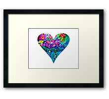 Floral Heart Designer Art Gifts - White Framed Print