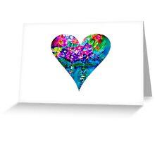 Floral Heart Designer Art Gifts - White Greeting Card