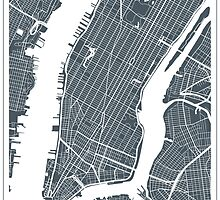 New York City Map by Tesouro