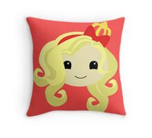 Apple White Throw Pillow